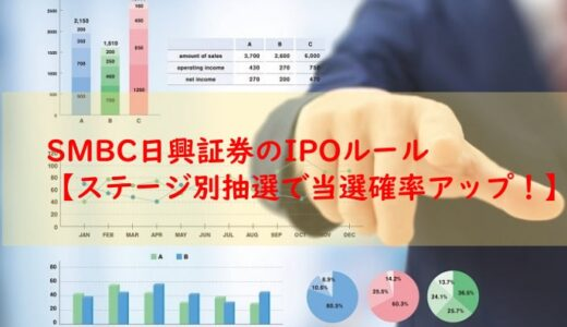 SMBC日興証券のIPOルール【ステージ別抽選で当選確率アップ!】