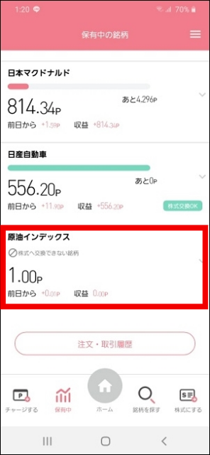 StockPoint for CONNECTでは1ポイントから運用可能